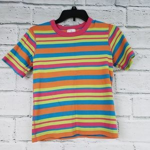 Hanna andersson size 150 striped tee girls cotton